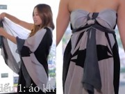 Thời trang - Đẹp kiêu kỳ với 5 cách thắt, quấn khăn choàng rộng