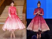 Thời trang - So kè nhan sắc Mỹ nhân Việt mặc váy nhái với sao quốc tế