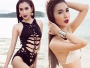 Thời trang - Mỹ nhân đội Phạm Hương sexy với áo tắm khoét xẻ