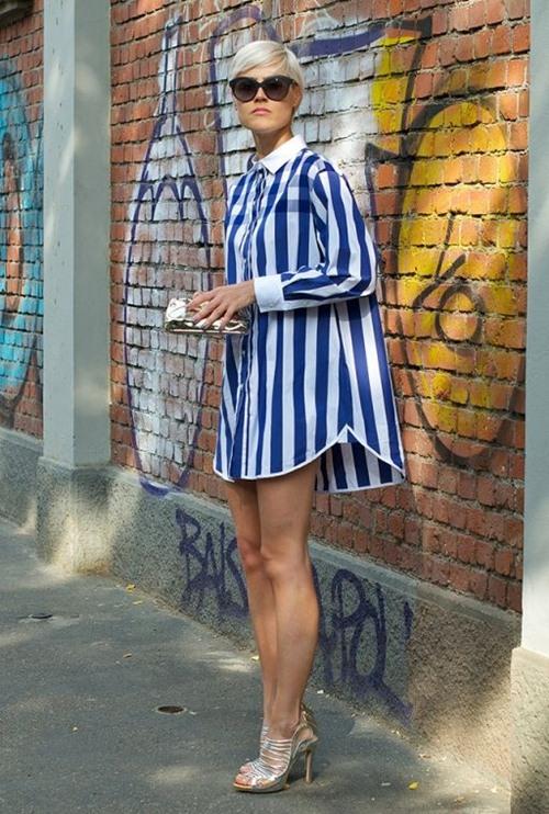 Nếu đã thích một chiếc váy kẻ, đừng chần chừ! - 4
