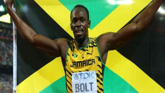 """Hét to """"số 1"""", Usain Bolt ăn mừng cú đúp HCV Olympic 2016"""