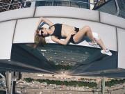 """Bạn trẻ - Cuộc sống - Cô gái Nga nghiện """"tự sướng"""" trên nóc nhà chọc trời"""