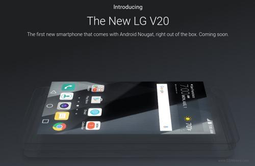 Xác nhận LG V20 chạy Android 7.0 Nougat khi ra mắt