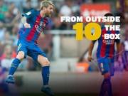 Bóng đá - Đọ tài sút xa: Messi không thua gì Ronaldo