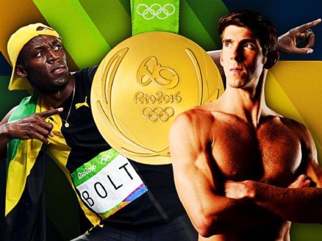 10 VĐV thống trị Olympic Rio: Phelps số 1, Bolt số 5