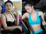 Đời sống Showbiz - Bỏng mắt ngắm Hương Giang, Lâm Chi Khanh tập gym