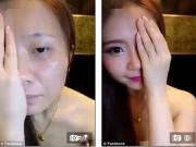 Làm đẹp - Choáng váng vì mặt thật của cô nàng Hàn Quốc xinh đẹp