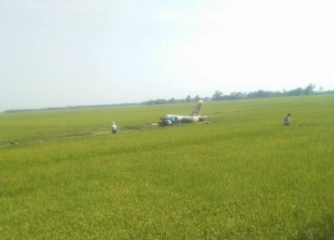 Máy bay quân sự rơi ở Phú Yên, một phi công hy sinh