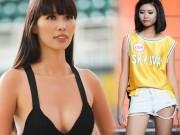 Thời trang - Hà Anh sexy hết cỡ khi hướng dẫn thí sinh Hoa hậu VN