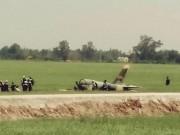Tin tức trong ngày - Cận cảnh hiện trường vụ rơi máy bay quân sự ở Phú Yên