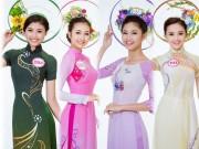 Thời trang - Ảnh áo dài chung kết nóng hổi của top 30 Hoa hậu VN