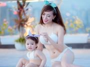 Bạn trẻ - Cuộc sống - Hot girl Mai Thỏ khoe dáng nõn nà bên con gái