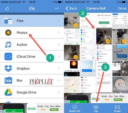 Hướng dẫn nén và giải nén file trên iPhone