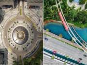 Thế giới - Ngắm vẻ đẹp khác lạ của Singapore từ trên cao