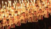 Video 15 vạn người vỗ tay hò reo như sấm đón Kim Jong-un