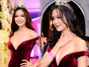 """Thời trang - Váy sexy đến """"nín thở"""" của Thùy Dung ở chung kết HHVN"""