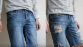 Mách chàng dùng dao cạo râu để tạo quần jeans rách