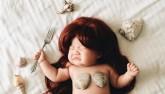 Bé gái 4 tháng tuổi được hóa trang siêu dễ thương