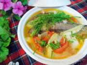 Ẩm thực - Bữa tối dân dã với món riêu cá chép