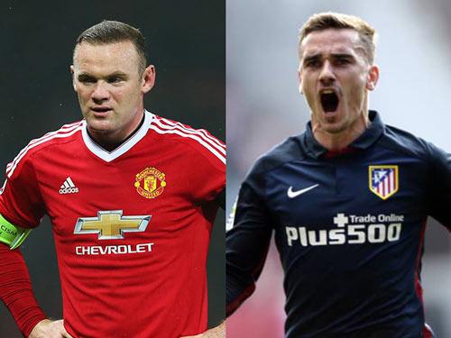 MU tính thay thế Rooney bằng Griezmann vào năm 2017