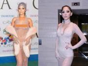 Thời trang - Diện đầm trong suốt, Rihanna và Tóc Tiên ai gợi cảm hơn?