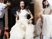 Thời trang - Thư Kỳ chỉ diện váy cưới bình dân trong ngày vu quy