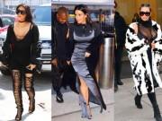 """Thời trang - Ngắm những bộ cánh hút mắt của cô Kim """"siêu vòng 3"""""""