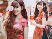 """Bạn trẻ - Cuộc sống - """"Hot girl Đắk Lắk"""" xinh đẹp dạo phố Trung Thu"""