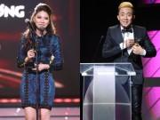 """Ca nhạc - MTV - Ngọc Trinh """"đánh bại"""" Trấn Thành giành giải MC ấn tượng"""