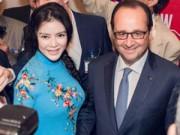 Phim - Lý Nhã Kỳ đẹp nền nã gặp Tổng thống Pháp