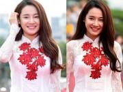 Phim - Nhã Phương nổi bật với áo dài trên thảm đỏ xứ Kim chi
