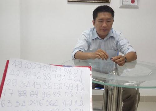 Cao thủ trí nhớ Việt Nam sắp chinh phục kỷ lục thế giới