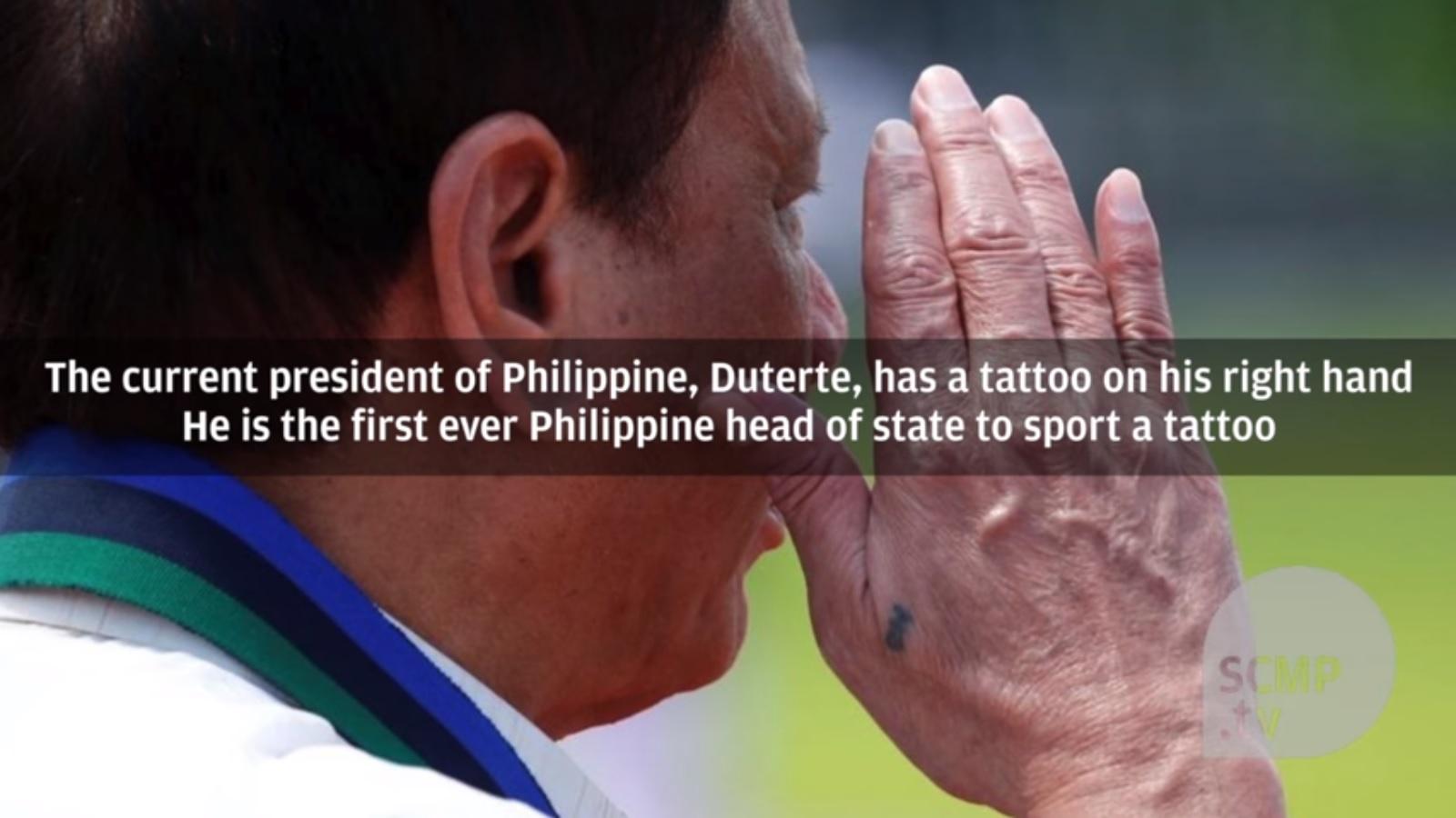 Hình xăm bí ẩn tiết lộ quá khứ của Tổng thống Philippines - Ảnh 1