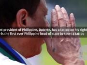 Thế giới - Hình xăm tiết lộ quá khứ của Tổng thống Philippines