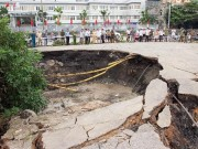 Tin tức trong ngày - Quảng Ninh bất ngờ xuất hiện hố tử thần khổng lồ 100m2