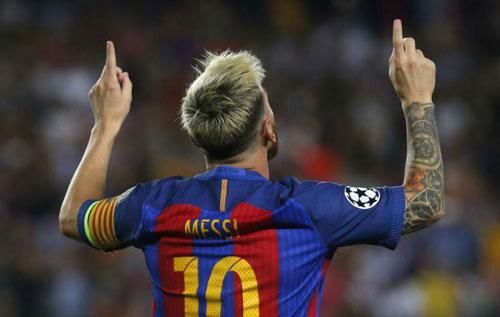Cúp C1: Lập số hattrick kỉ lục, Messi vượt Ronaldo