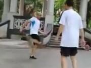 Thể thao - Phát sốt: 2 cao thủ đá cầu như múa võ Túy quyền