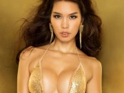 """Người mẫu - Hoa hậu - Siêu mẫu Hà Anh """"đốt mắt"""" với bikini lấp lánh"""