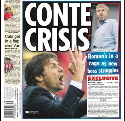 Chelsea: Abramovich họp khẩn, cảnh báo Conte