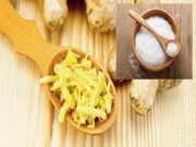 Sức khỏe đời sống - Trị ho dễ dàng bằng gừng và muối