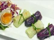 Ẩm thực - Bữa tối trôi cơm với rau cuộn thanh mát