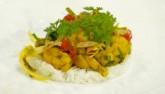 Bữa tối ngon hết ý với cơm nước cốt dừa và ếch xào lăn