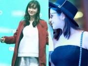 """Đời sống Showbiz - """"Tiểu Long Nữ"""" và vợ Huỳnh Hiểu Minh: Ai bầu đẹp hơn?"""
