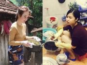Ca nhạc - MTV - Choáng với cảnh Phương Trinh, Thuỷ Tiên bưng bê rửa bát