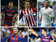 """Bóng đá - Vượt Messi - Ronaldo, Suarez là """"vua ghi bàn 2016"""""""
