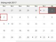 Tin tức trong ngày - Tết Dương lịch 2017, người lao động được nghỉ mấy ngày?