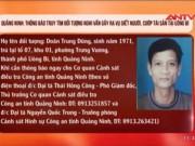 Video An ninh - Truy tìm nghi can sát hại 4 bà cháu ở Quảng Ninh