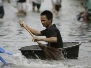 Tranh vui - Xem người nước ngoài làm gì khi bị ngập lụt?