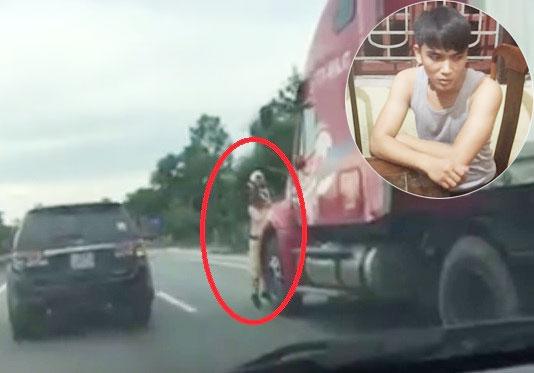 Lái xe container hất CSGT bám trên gương xuống đường đối mặt cái kết nào?