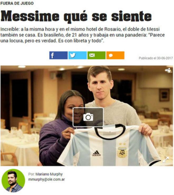 Khó tin: 2 Messi cùng cưới vợ chung ngày và địa điểm - 3